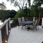 beautiful completed stone patio