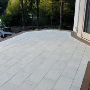 installed stone patio for outdoors